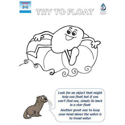 Safety Tips - Colouring Pages